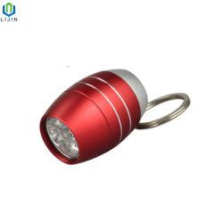 Flitslicht van de Legering van het Aluminium van de Vorm van het ei het Mini met Keychain