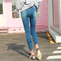 Het hoge Denim van de Jeans van de Grootte van de Vrouwen van de Taille Grote Elastische Magere voor Dames