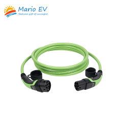 وضع ماريو-EV 3 من النوع 2 إلى النوع 2 32A 250 فولت من التيار المتردد كابل شحن البطارية الكهربائية ذو القابس Male Plug Electric Vehicle AC Charging (شحن التيار المتردد للسيارة الكهربائية الموصل