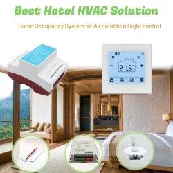 Novo Design Hotowell Termostato Digital para Hotel fan coil Unit / CE Válvula Moduladora / Ventilador / Controle de Iluminação