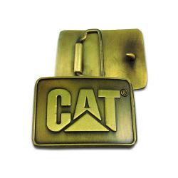 Barato que el metal dorado antiguo pasada de moda el logotipo de coche de la banda de la hebilla del cinturón