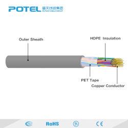 De lucht Kabels Multipairs van het Koper Draad van de Kabel van de Telefoon van 25/50/100 Paar de Openlucht/Binnen