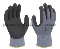 Het micro-Schuim van de fabrikant de Douane Afgedrukte dagelijks Werkende Duurzame Handschoenen van de Veiligheid van het Nitril Onderdompelende met Ce Gediplomeerde oeko-Tex (N1554)