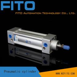 Головки цилиндра экструдера из алюминиевого сплава, углеродистая сталь шток цилиндра, пневматический цилиндр поршня, Si серии ISO6431 со стандартными пневматическими цилиндрами