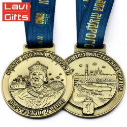 Hot Sale Custom King Head Portrait Metal Sport Medal