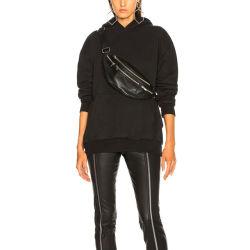 Разработке нестандартного длинный черный Hoodies женщин 100% хлопок