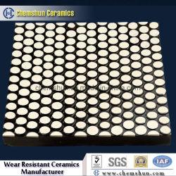 Keramische zusammengesetzte Abnützung-Gummiplatte vulkanisierte durch Alumina Cylinder