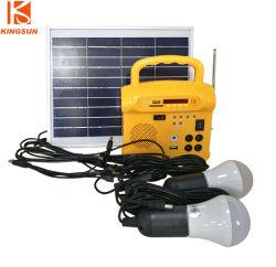 10 W/10 V Mini-Solarkits Ladegerät für Mobiltelefone/tragbares Sonnensystem/LED-Licht mit UKW und Radio