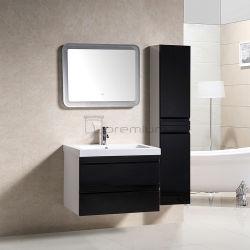 Preto e Branco Banheiro vaidade define com grande painel lateral