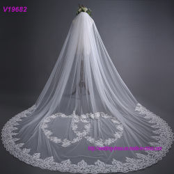 Nuevo estilo de alta calidad 3m velo Vestido de Novia encaje
