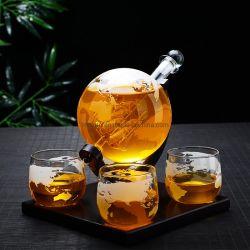 Logotipo personalizado de vidro Garrafa de Vinho Boroslicate conjunto decantador de vinho de globo de vidro