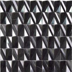클래식한 스타일의 호텔로 블랙 컬러 모자이크 로스 앤젤레스를 사용합니다