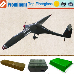 Custom de productos de fibra de vidrio modelo de avión de fibra de vidrio