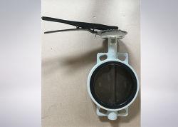 JIS 10k/16k чугунные полупроводниковых пластин типа двухстворчатый клапан со стороны рычага переключения передач