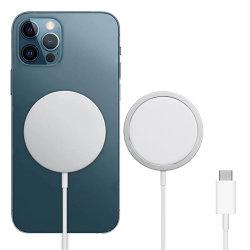 Tragbares 15W 10W Ladekabel Type C Mobiltelefon magnetisch Wireless-Ladegerät für iPhone 12 pro Max Mini