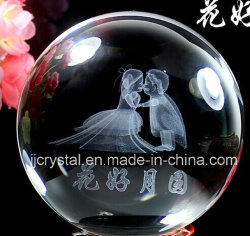 Crystal Ball de gravure laser 3D Intérieur