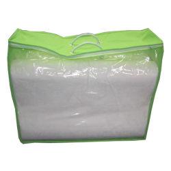 Guangzhou Non-Woven PVC bolsa con cremallera para MANTA Manta Bedsheet almohada de embalaje de ropa de cama