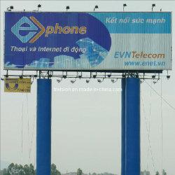 L'extérieur de la publicité de la construction de panneaux triangulaires Unipole (F3V-131)