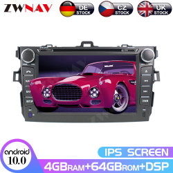 L'écran Carplay Android pour Toyota Corolla 2007 2008 2009 2010 2011 2012 2013 Radio Audio Player multimédia stéréo Chef de l'unité GPS