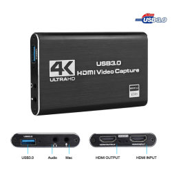4K para USB3.0 HDMI placa de captura de vídeo
