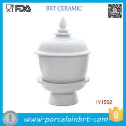 Diseño decente Cuenco de cerámica de alta calidad con tapa y la placa