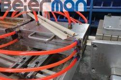 تجويف 4 تجويف زاوية الحماية من الجدار البلاستيكي الأوتوماتيكي PVC ملف التعريف نظام تفريغ خط الإنتاج ذو برغيّ مزدوج مع جهاز ثقب