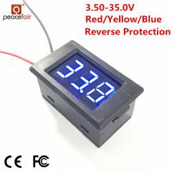 Pzvm-001 DC 3.50-35.0V 0.36のインチLEDデジタルのパネルの電圧計