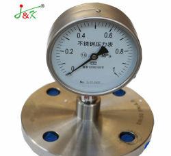 フランジが付いているステンレス鋼の圧力計