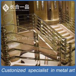 La fabricación de la fábrica de diseño especial de la Escalera de acero inoxidable pasamanos balaustrada