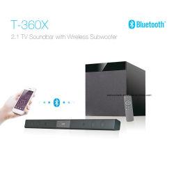 T360X 2.1 Système Home Cinema sans fil Bluetooth TV Le président de la Soundbar - noir