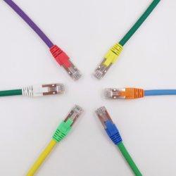 CAT6 구리 광섬유 통신망 케이블 접속 코드 근거리 통신망 케이블