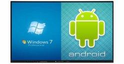 55 65 75 86 98 pulgadas con pantalla táctil LCD 3D Smart TV de la junta todo en un PC para sala de reuniones y aulas
