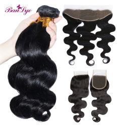 Het ruwe Maagdelijke Menselijke Haar van de Bundels van de Golf van het Lichaam van het Haar van het Haar Weft Peruviaanse 10A kan strijken en Kleurstof