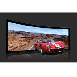 16: 9 Высокое качество кривой и неподвижной рамкой экрана проектора с помощью гибких белого или серого цвета в формате HD