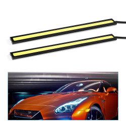 Levou 12V 17cm à prova de lâmpadas Auto carro DRL COB luz de nevoeiro da condução de Luzes de LED