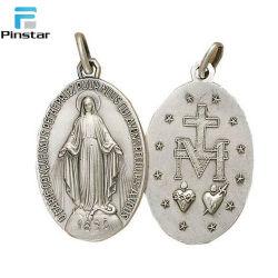 Venta caliente Metal 3D personalizadas medallas católica religiosa