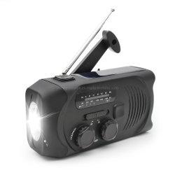 La supervivencia recargable Linterna de emergencia Kit de engranajes de la radio y cargador USB