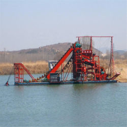 Mobile Dredger Processing Mining Equipment سعر المورِّد للرمال النهرية الماس الذهبي
