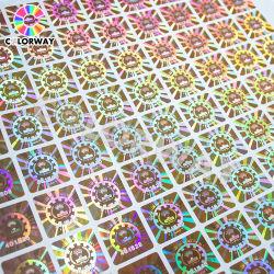 Échantillon gratuit Numéro de série de nouvelle conception gratter le Code QR de lutte contre la contrefaçon de vinyle autocollant hologramme laser 3D