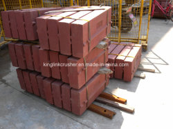 Ersatzteile des Schlag-Stabes und der Seiten-Zwischenlage und Auswirkung-Platte für Prallmühle
