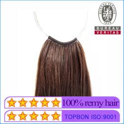 I prodotti per i capelli descritti Giappone/Corea Nessun-Capovolgono i capelli umani di Remy di estensione dei capelli del Virgin della piuma