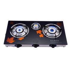 Tableau de GPL cuisinière à gaz avec plateau en verre