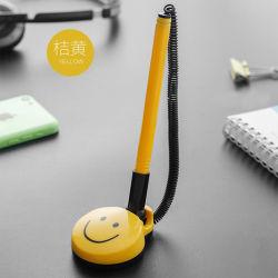 قلم لوحة توقيع بنك Counter قلم بلاستيكي ورق على قاعدة الطاولة اللاصق Gel قلم قلم سطح المكتب