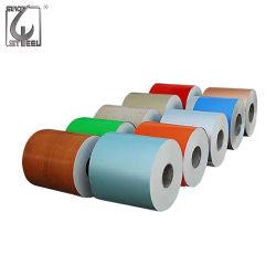 PPGI bobinas, bobinas de acero recubierto de color, blanco RAL9002 Prepainted bobinas de acero galvanizado de hojas de techos de metal/Materiales de construcción