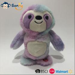 Запись голоса и повторяющиеся и в нескольких минутах ходьбы Мягкая игрушка Sloth красителя соединительной тяги