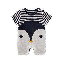 Commerce de gros Penguin Bébé garçon Rompers Short Sleeve bébé pyjamas 100% coton vêtements de bébé