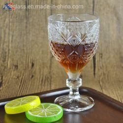 Vetro intagliato caldo di Champagne di vetro di vino del calice di Stemware di vendita