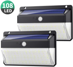 10 LED luzes Solar a Luz de Segurança do sensor de movimentos no exterior com 3 modos de iluminação, 270 Grande Angular, IP65 resistente à prova de luzes de parede solares para Porta Dianteira