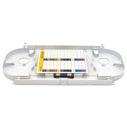 ABS de alta calidad 12 24 48 núcleos de casete de fibra óptica de fibra de empalme bandeja para el empalme