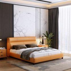Modern Houten huis Solid Slaapkamer dubbele Massage King Bed meubilair